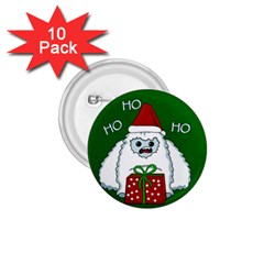 Yeti Xmas 1 75  Buttons (10 Pack) by Valentinaart