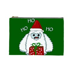Yeti Xmas Cosmetic Bag (large)  by Valentinaart