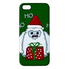 Yeti Xmas Apple Iphone 5 Premium Hardshell Case by Valentinaart
