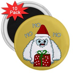 Yeti Xmas 3  Magnets (10 Pack)  by Valentinaart