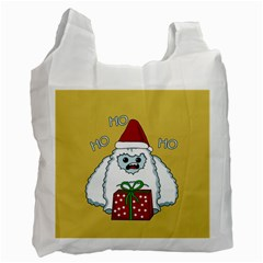 Yeti Xmas Recycle Bag (two Side)  by Valentinaart