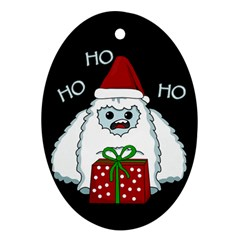Yeti Xmas Oval Ornament (two Sides) by Valentinaart
