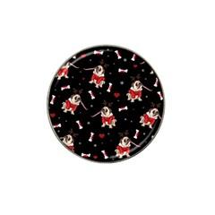 Pug Xmas Pattern Hat Clip Ball Marker by Valentinaart