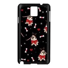 Pug Xmas Pattern Samsung Galaxy Note 3 N9005 Case (black) by Valentinaart