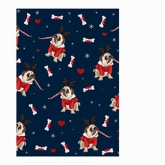 Pug Xmas Pattern Small Garden Flag (two Sides) by Valentinaart