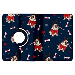 Pug Xmas Pattern Kindle Fire Hdx Flip 360 Case by Valentinaart
