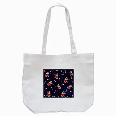 Pug Xmas Pattern Tote Bag (white) by Valentinaart