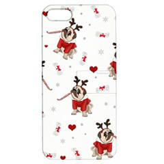 Pug Xmas Pattern Apple Iphone 5 Hardshell Case With Stand by Valentinaart