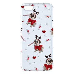 Pug Xmas Pattern Iphone 5s/ Se Premium Hardshell Case by Valentinaart