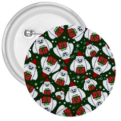 Yeti Xmas Pattern 3  Buttons by Valentinaart