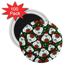 Yeti Xmas Pattern 2 25  Magnets (100 Pack)  by Valentinaart