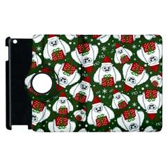 Yeti Xmas Pattern Apple Ipad 3/4 Flip 360 Case by Valentinaart