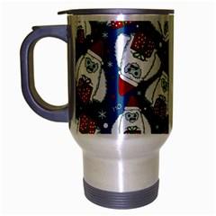 Yeti Xmas Pattern Travel Mug (silver Gray) by Valentinaart