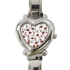 Yeti Xmas Pattern Heart Italian Charm Watch by Valentinaart