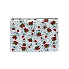 Yeti Xmas Pattern Cosmetic Bag (medium)  by Valentinaart