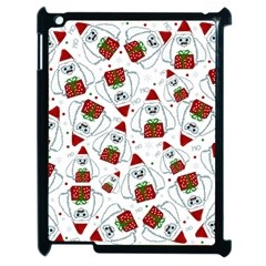 Yeti Xmas Pattern Apple Ipad 2 Case (black) by Valentinaart