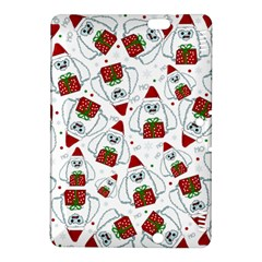Yeti Xmas Pattern Kindle Fire Hdx 8 9  Hardshell Case by Valentinaart