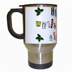 Santa s Note Travel Mugs (white) by Valentinaart