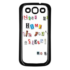 Santa s Note Samsung Galaxy S3 Back Case (black)