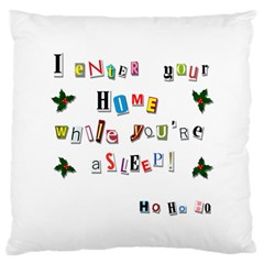 Santa s Note Large Flano Cushion Case (two Sides) by Valentinaart