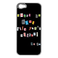 Santa s Note Apple Iphone 5 Case (silver) by Valentinaart