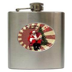 Karl Marx Santa  Hip Flask (6 Oz) by Valentinaart