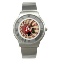 Karl Marx Santa  Stainless Steel Watch by Valentinaart