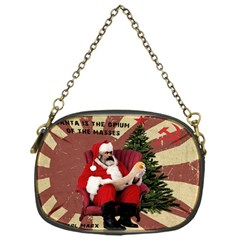 Karl Marx Santa  Chain Purses (one Side)  by Valentinaart