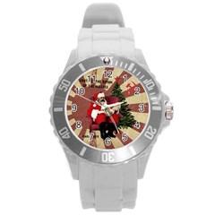 Karl Marx Santa  Round Plastic Sport Watch (l) by Valentinaart