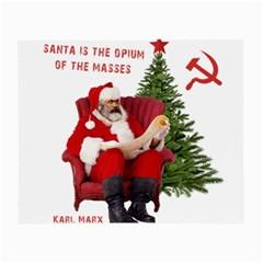 Karl Marx Santa  Small Glasses Cloth by Valentinaart