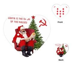 Karl Marx Santa  Playing Cards (heart)  by Valentinaart