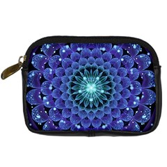 Accordant Electric Blue Fractal Flower Mandala Digital Camera Cases by beautifulfractals