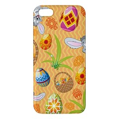 Easter Bunny And Egg Basket Apple Iphone 5 Premium Hardshell Case by allthingseveryone