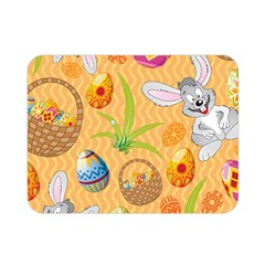 Easter Bunny And Egg Basket Double Sided Flano Blanket (mini)  by AllThingsEveryone