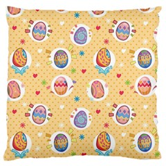Fun Easter Eggs Large Cushion Case (one Side)