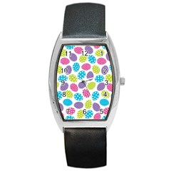 Polka Dot Easter Eggs Barrel Style Metal Watch by AllThingsEveryone
