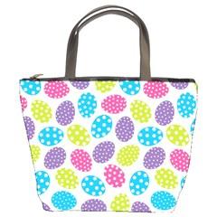 Polka Dot Easter Eggs Bucket Bags by AllThingsEveryone