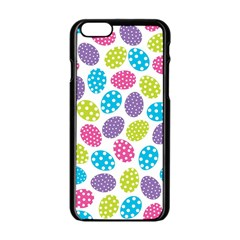 Polka Dot Easter Eggs Apple Iphone 6/6s Black Enamel Case by AllThingsEveryone
