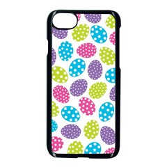 Polka Dot Easter Eggs Apple Iphone 8 Seamless Case (black) by AllThingsEveryone