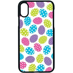 Polka Dot Easter Eggs Apple Iphone X Seamless Case (black) by AllThingsEveryone