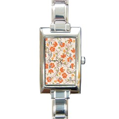 Honeysuckle Delight Rectangle Italian Charm Watch