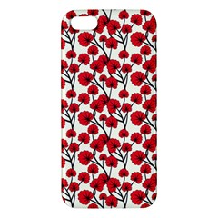 Red Flowers Apple Iphone 5 Premium Hardshell Case by allthingseveryone
