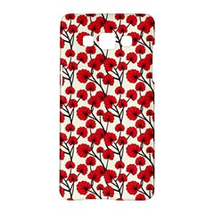 Red Flowers Samsung Galaxy A5 Hardshell Case  by AllThingsEveryone
