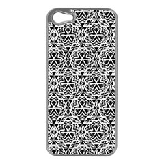 Tribal Native American Hand Drawing Pattern Apple Iphone 5 Case (silver) by Cveti