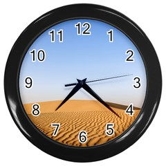 Desert Dunes With Blue Sky Wall Clocks (black) by Ucco
