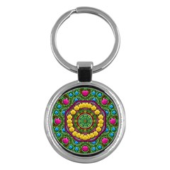 Bohemian Chic In Fantasy Style Key Chains (round)  by pepitasart