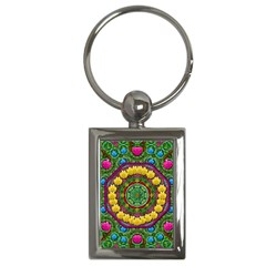 Bohemian Chic In Fantasy Style Key Chains (rectangle)  by pepitasart
