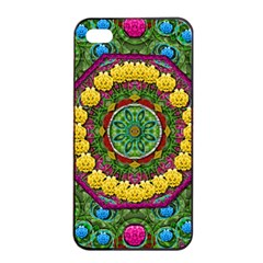 Bohemian Chic In Fantasy Style Apple Iphone 4/4s Seamless Case (black) by pepitasart