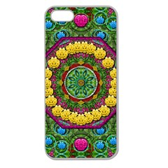 Bohemian Chic In Fantasy Style Apple Seamless Iphone 5 Case (clear) by pepitasart