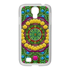 Bohemian Chic In Fantasy Style Samsung Galaxy S4 I9500/ I9505 Case (white) by pepitasart